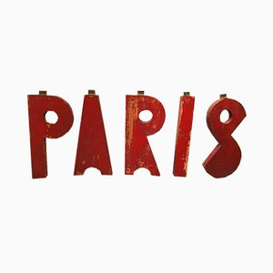 Paris Letters Sign, 1950s