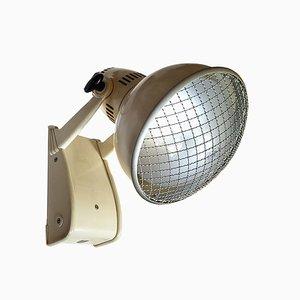 Lámpara de pared médica industrial Mid-Century de Philips, años 50