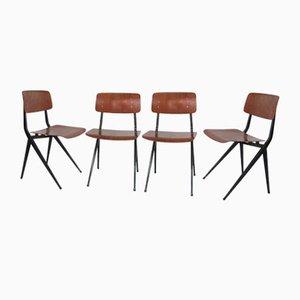 Industrielle Stühle von Marko, 1950er, 4er Set