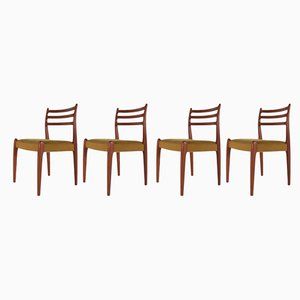 Mid-Century Teak Chairs, 1960s, Set of 4