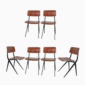 Industrielle Mid-Century Stühle von Marko, 6er Set
