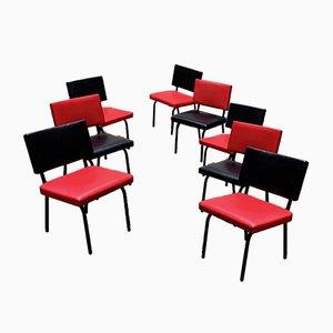 Chaises Modernistes de Piscaer, 1950s, Set de 8