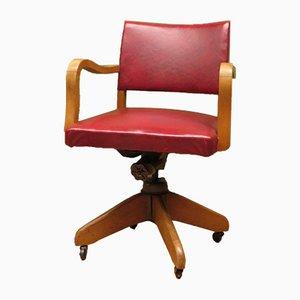 Chaise de Bureau Pivotante Vintage en Chêne de Hillcrest, 1940s