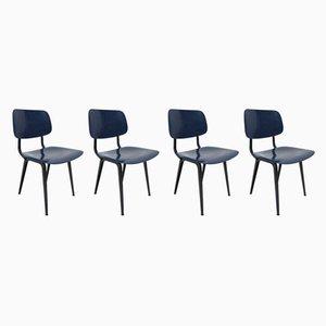 Esszimmerstühle aus Stahl & ABS-Kunststoff von Friso Kramer für Ahrend De Cirkel, 1990er, 4er Set