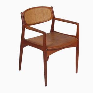 Danish Teak and Aniline Leather Armchair by Ib Kofod Larsen for ib kofod larsen, 1960s