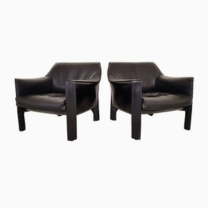 CAB 415 Lounge Chairs by Mario Bellini for Cassina, 1980s, Set of 2