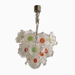 Italian Murano Glass Chandelier by Gino Vistosi for Murano, 1970s