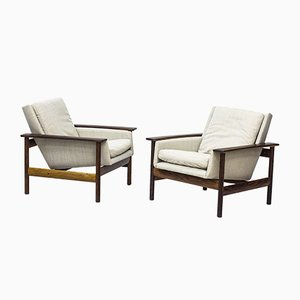 Norwegian Rosewood 7001 Lounge Chairs by Sven Ivar Dysthe for Dokka Møbler, 1960s, Set of 2