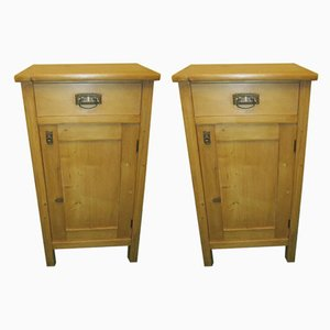 Scandinavian Modern Pine Cabinets, 1920s, Set of 2