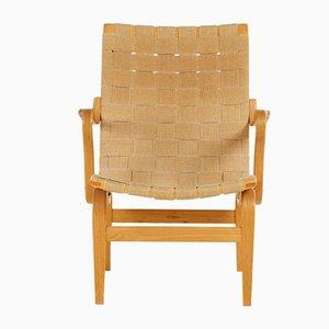 Beech Eva Lounge Chair by Bruno Mathsson for Karl Mathsson, 1976