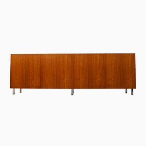 Vintage Danish Chrome & Teak Sideboard, 1950s