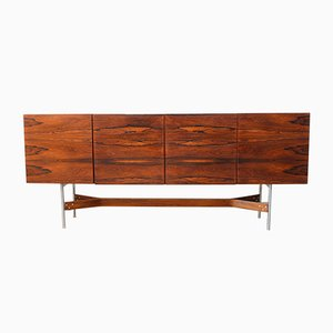 Chrome & Rosewood Sideboard by Rudolf Glatzel for Fristho, 1962