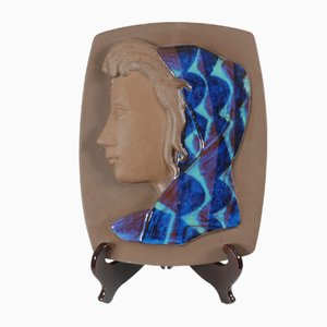 Panel vintage de cerámica de Johannes Hedegaard para Royal Copenhagen