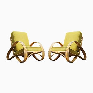 Rattan Lounge Chairs from Rohé Noordwolde, 1950s, Set of 2
