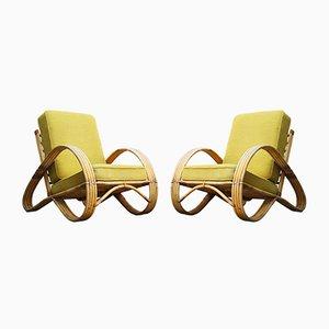 Sessel aus Rattan von Rohé Noordwolde, 1950er, 2er Set