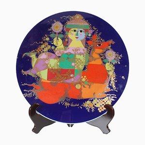 Assiette Vintage en Céramique par Bjorn Wiinblad pour Rosenthal