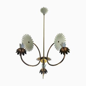 Brass Chandelier by Pietro Chiesa, 1950s