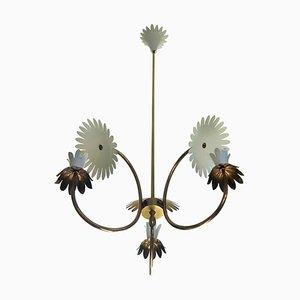 Lámpara de araña de latón de Pietro Chiesa, años 50
