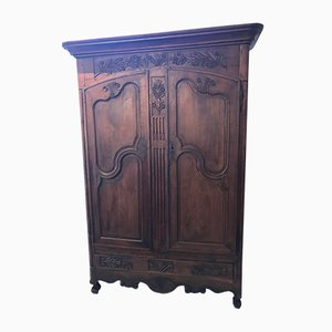 Antique Louis XV French Oak Wardrobe