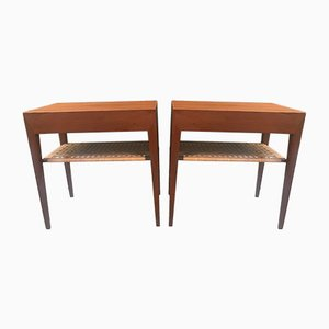 Danish Teak Nightstands by Severin Hansen for Haslev Møbelsnedkeri, 1960s, Set of 2