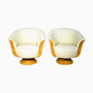 Art Deco Tulip Lounge Chairs, Set of 2
