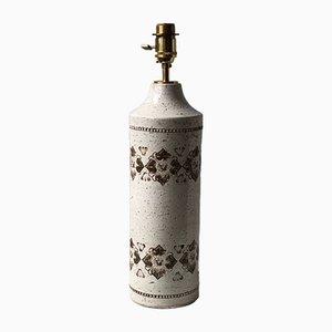 Tischlampe aus Keramik von Bitossi für Bergboms, 1960er