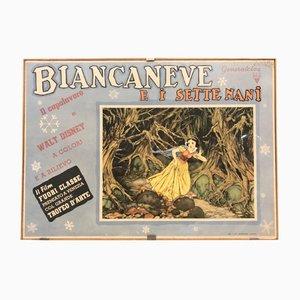 Affiche Blanche Neige Vintage de Pizzi & Pizzio, Italie, 1938
