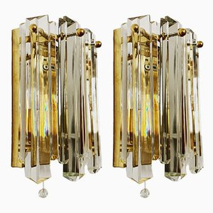 Applique in ottone e placcate in oro di JT Kalmar per Kalmar Franken KG, anni '60, set di 2