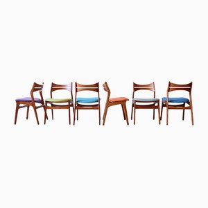 Danish Model 310 Dining Chairs by Erik Buch for Chr. Christiansen, 1960s, Set of 6