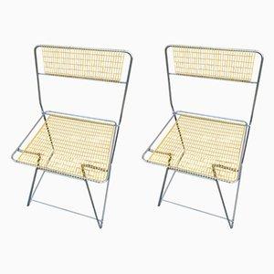 Industrielle italienische Stühle aus Eisen, 1980er, 2er Set