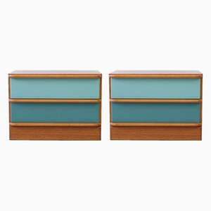 Scandinavian Modern Danish Teak Nightstands, 1970s, Set of 2