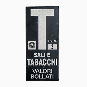 Italienisches Vintage Schild aus Aluminium, 1970er