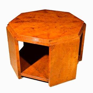 Tavolino da caffè Art Déco esagonale