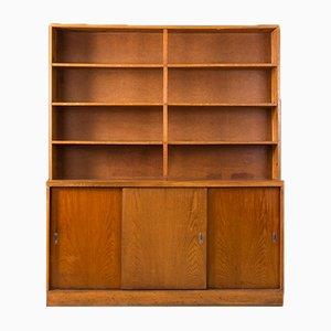 Vintage Industrial German Wooden Shutter Cabinet, 1930s