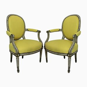 18th-Century Armchairs, 1780s, Set of 2