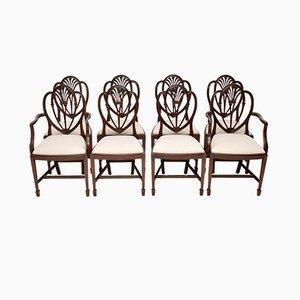 Vintage Georgian Style Mahogany Dining Chairs, 1920s, Set of 8
