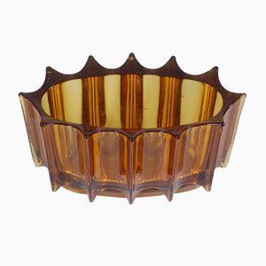 Mid-Century Antiqued Glass Bowl from Orrefors, 1950s