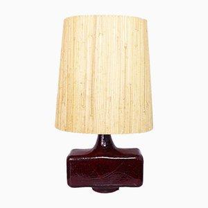 Lámpara de mesa Mid-Century de cerámica, años 60