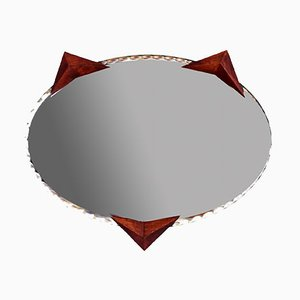 Mid-Century Hand-Crafted French Cat Mirror, 1950s