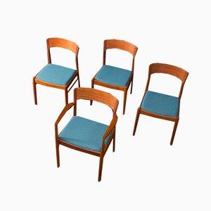 Moderne skandinavische Esszimmerstühle von KS Møbler, 1960er, 4er Set