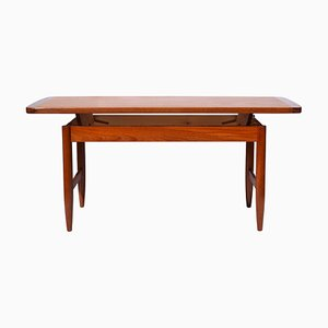 Vintage Mid-Century Teak Elevatable Coffee Table from HMB Möbler, 1960s