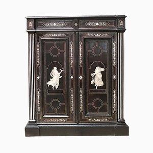 Antiker italienischer Schrank aus Palisander & Ebenholz