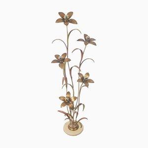 Florale Stehlampe, 1970er