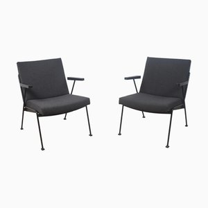 Oase Lounge Chairs by Wim Rietveld for Ahrend De Cirkel, 1950s, Set of 2