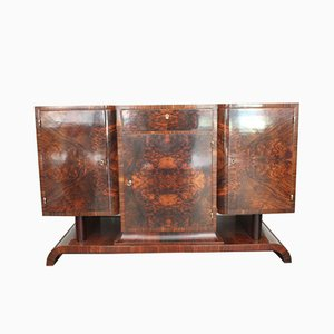 Vintage Art Deco Walnut Sideboard, 1930s