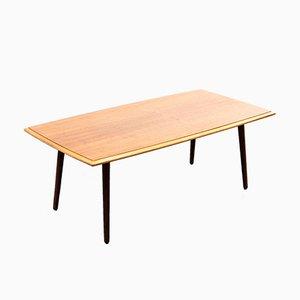 Table Basse Mid-Century en Contreplaqué de Noyer, 1950s