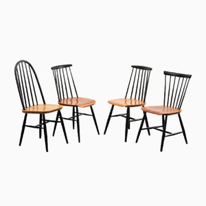 Mid-Century Teak Dining Chairs, 1950s, Set of 4