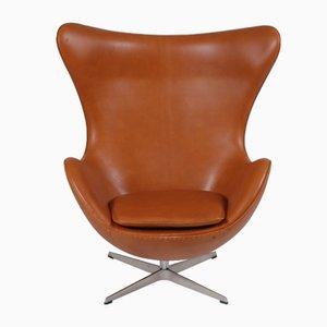 Dänischer Sessel aus Anilinleder von Arne Jacobsen für Fritz Hansen, 1980er