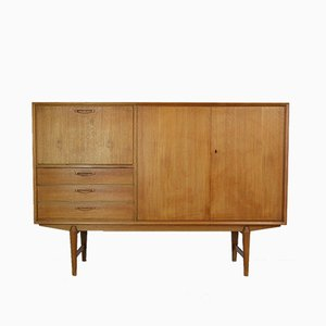 Scandinavian Modern Teak Highboard, 1960s