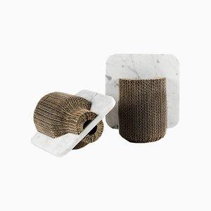 Confine Vase & Schneidebrett von Gumdesign für La Casa di Pietra, 2er Set